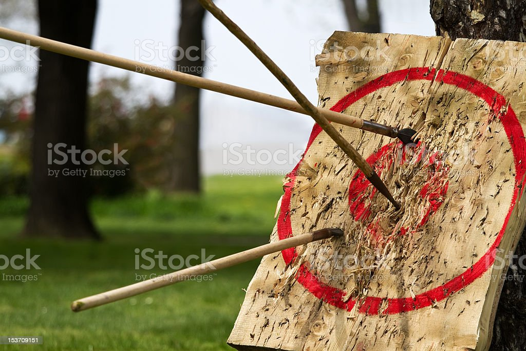Target and javelins stock photo