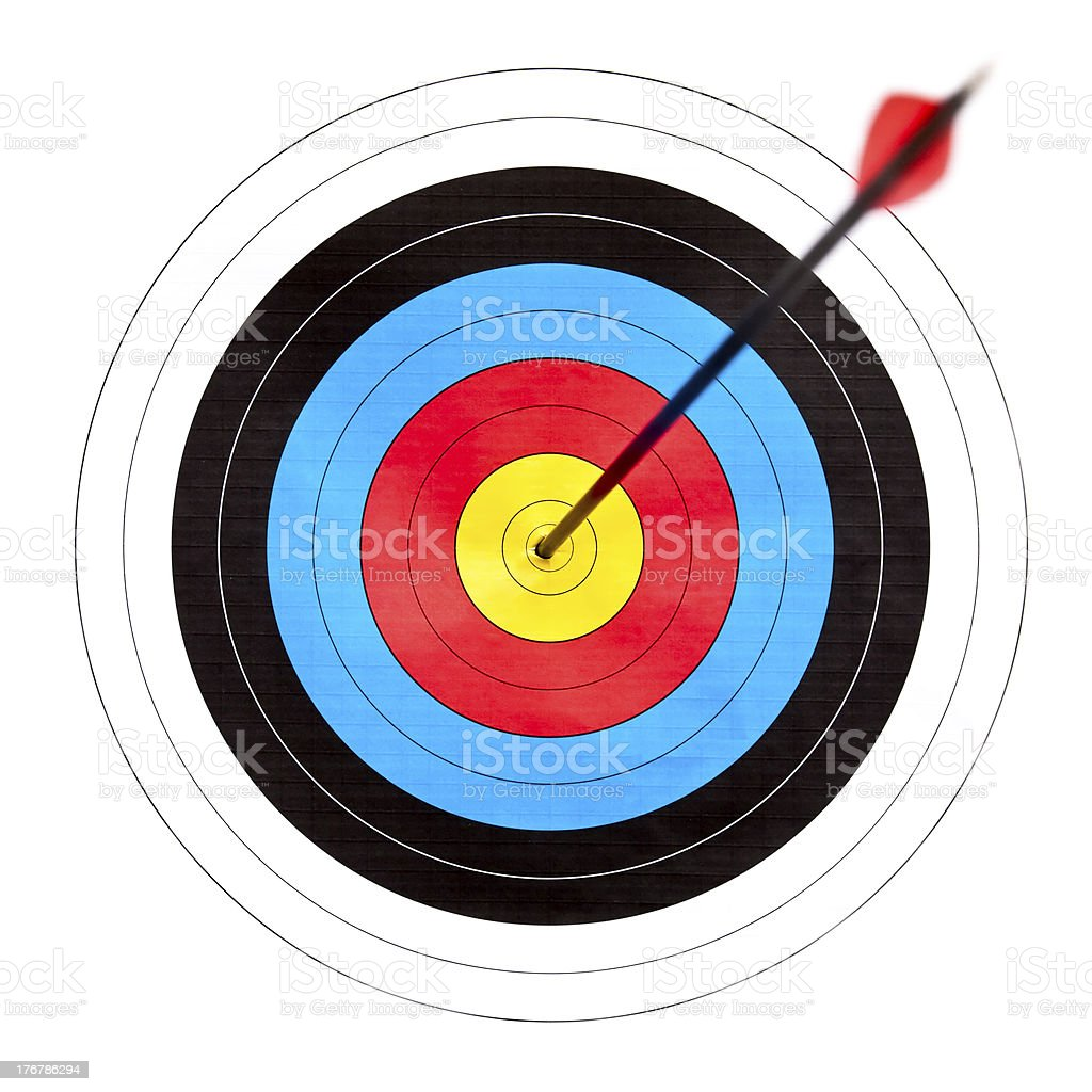 Target archery royalty-free stock photo