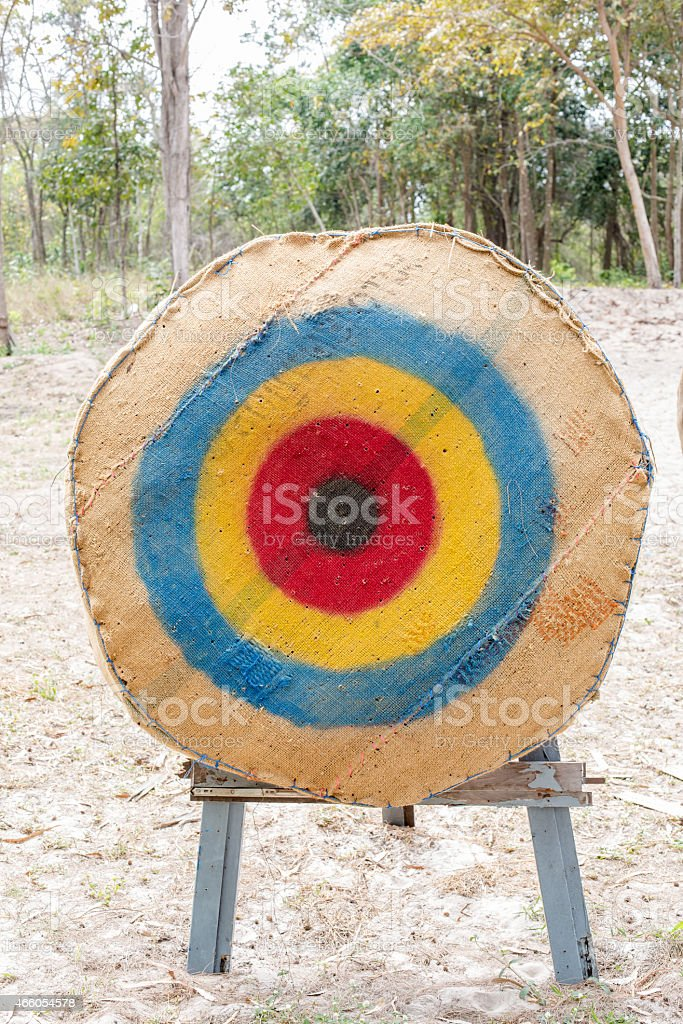 Target archery stock photo