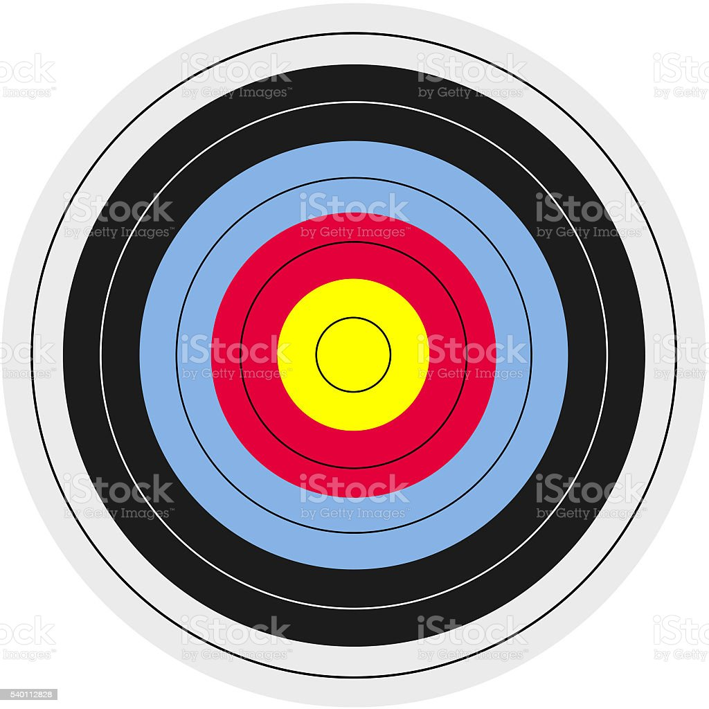 Target - Arrow - Archery stock photo