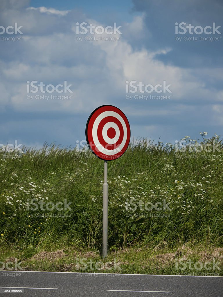 Target as a roadsign royalty-free stock photo