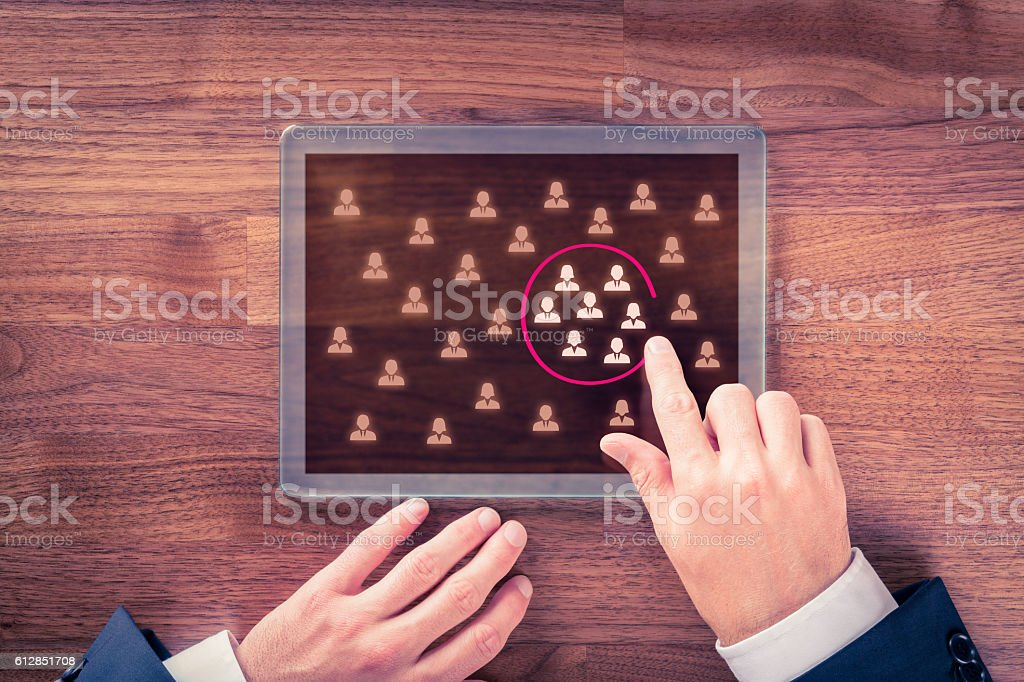 Target audience and market segmentation stock photo