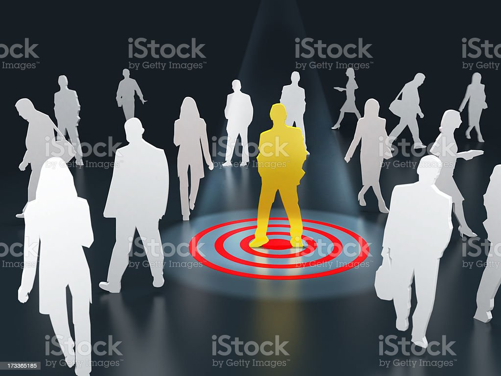 Target audience royalty-free stock photo