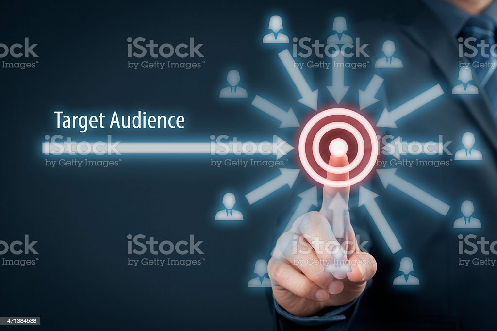 Target audience stock photo