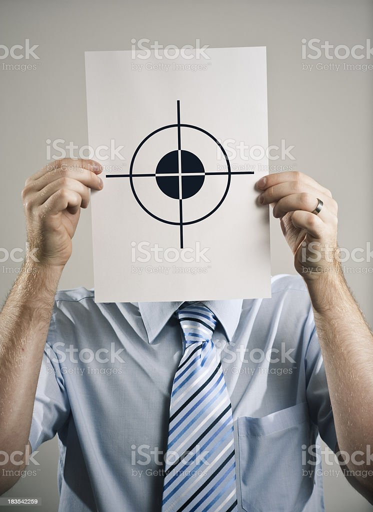 Target Business Guy royalty-free stock photo