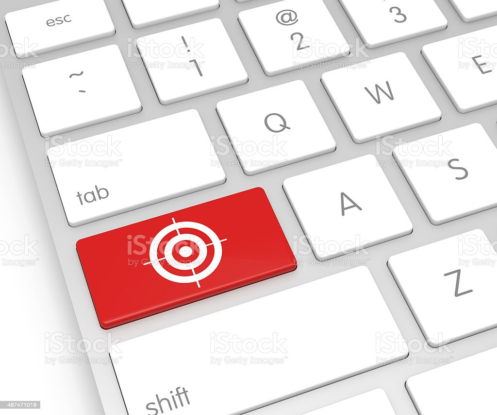 Target Computer Key stock photo