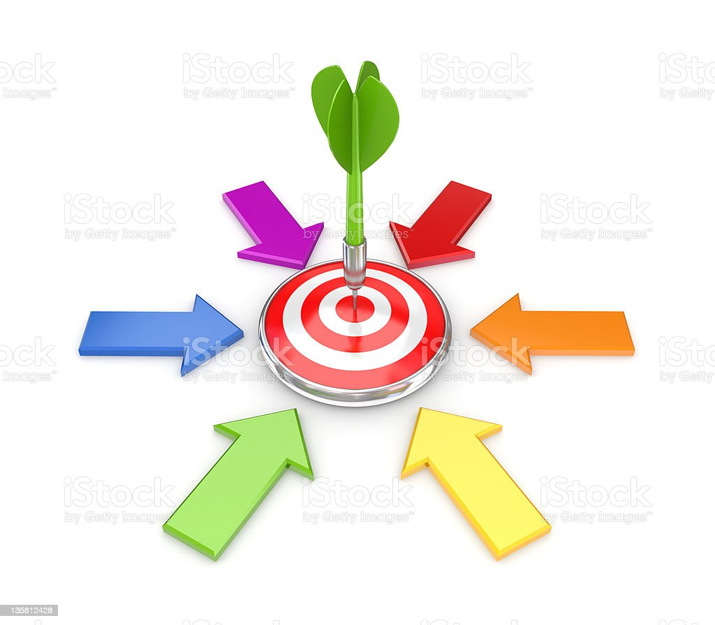 Target concept. royalty-free stock photo