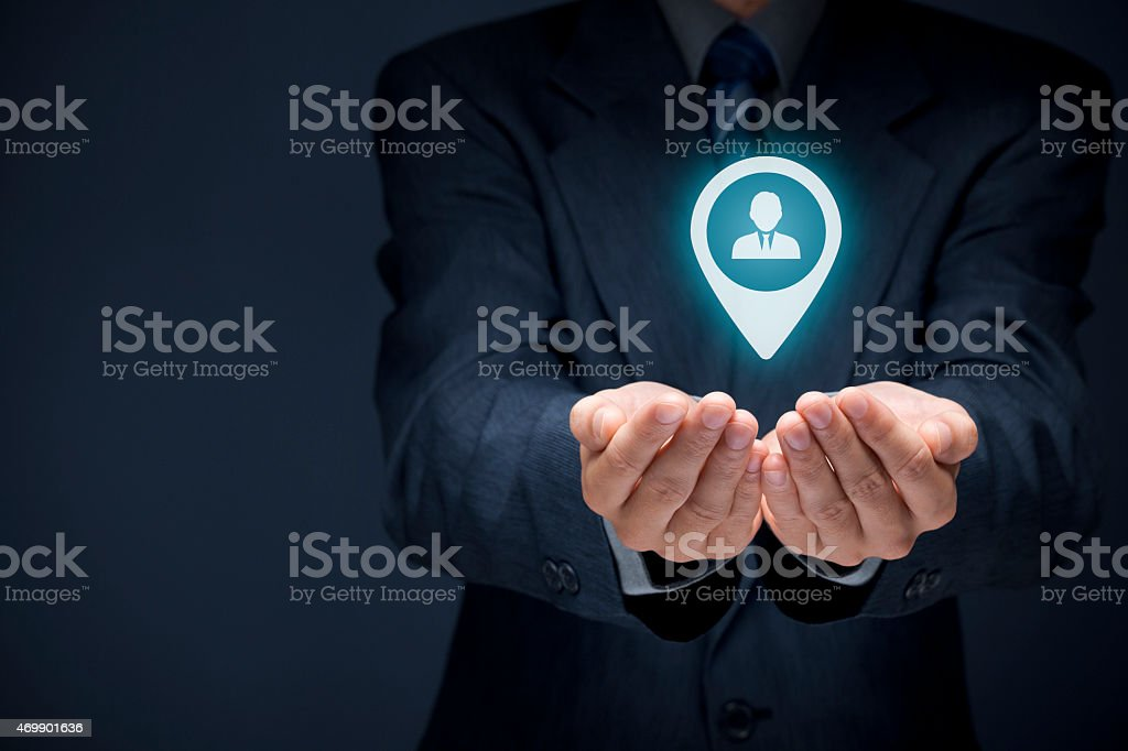 Target customer stock photo