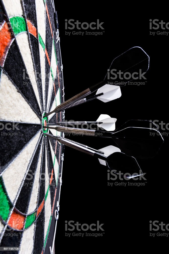 Target darts game stock photo