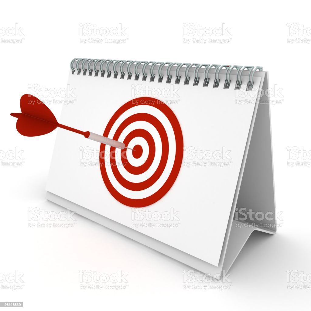 Target Date royalty-free stock photo