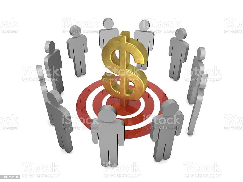 Target Dollar royalty-free stock photo