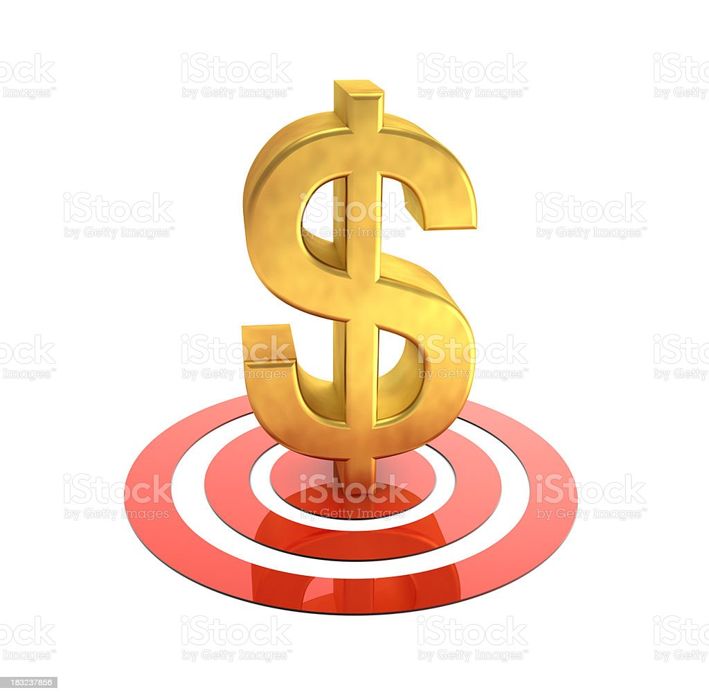 Target Dollar royalty-free stock photo