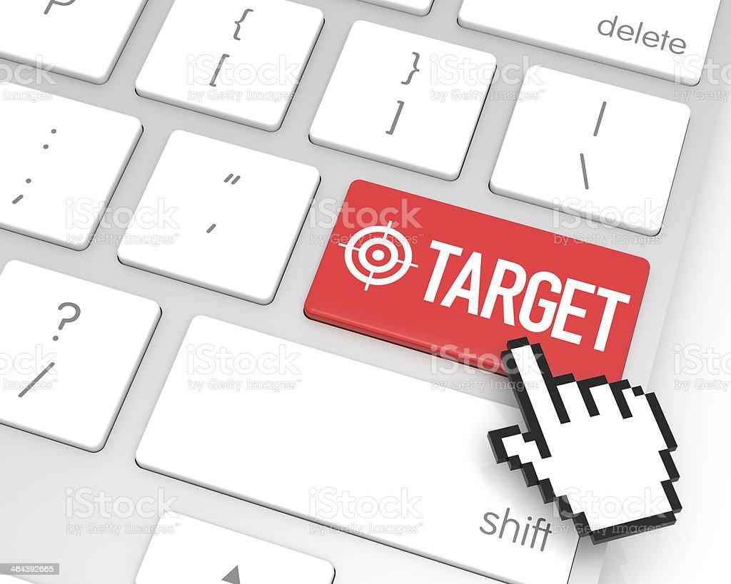 Target Enter Key royalty-free stock photo