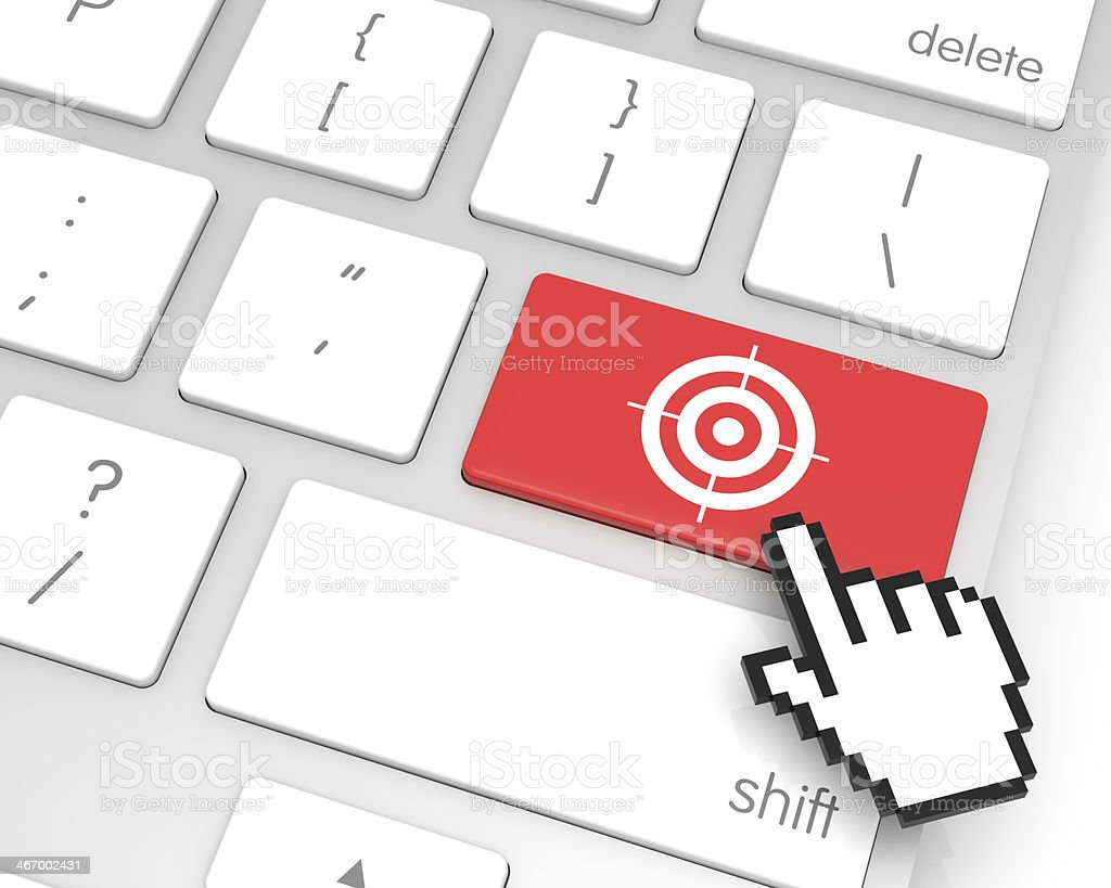 Target Enter Key stock photo