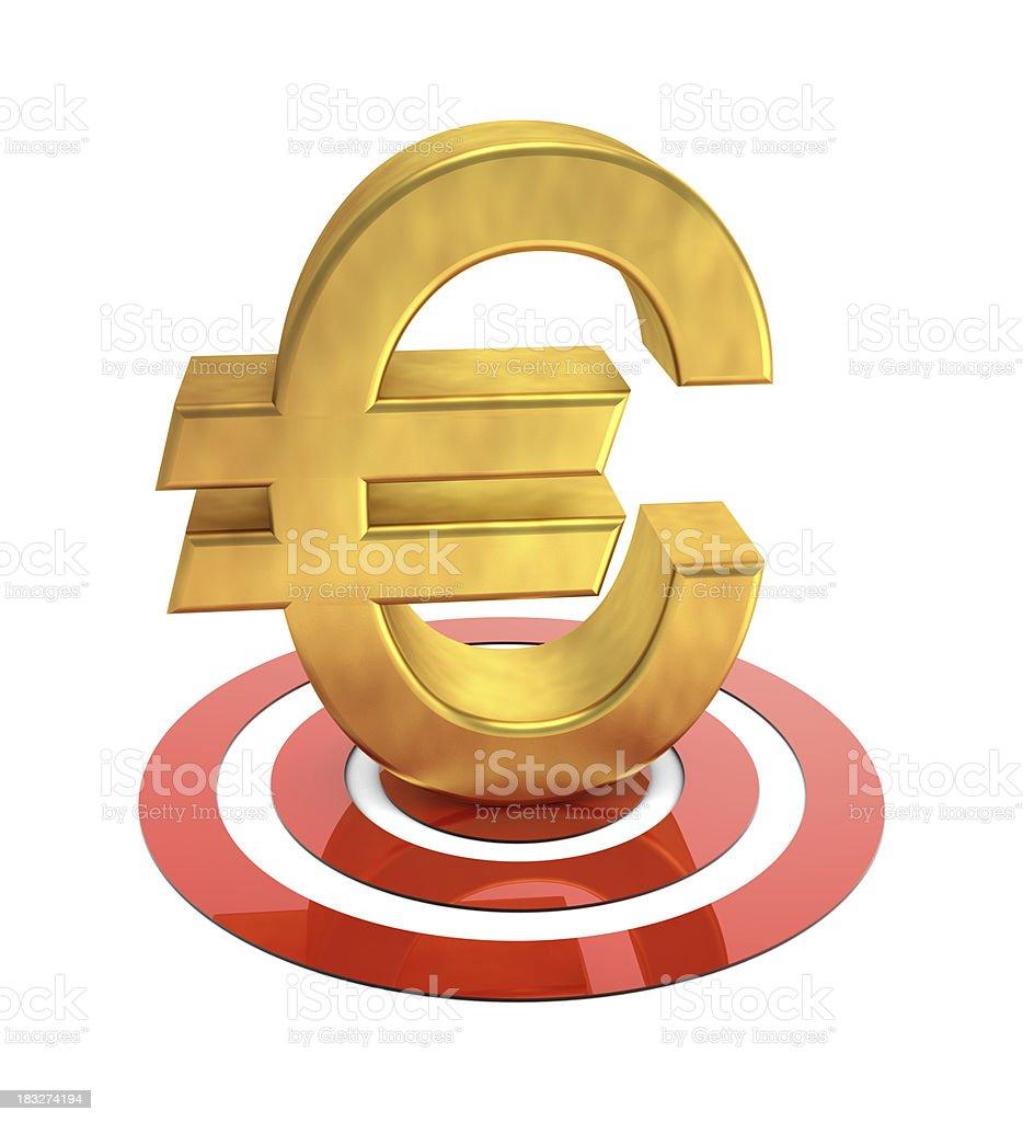 Target Euro royalty-free stock photo