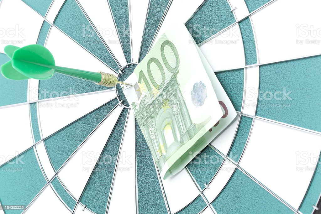 Target Euro royalty-free stock photo