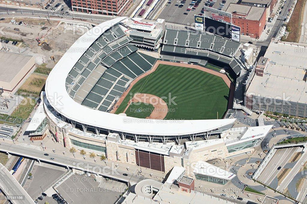 Target Field Minnesota Twins Stadium Aerial stock photo