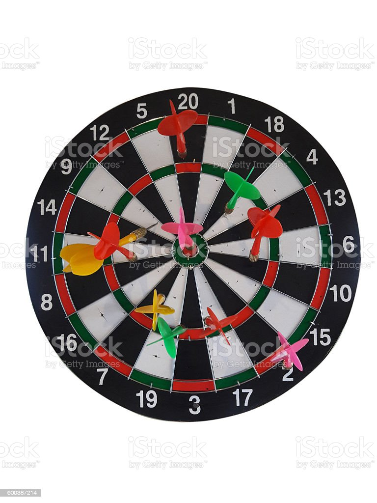Target for darts on a white background. stock photo