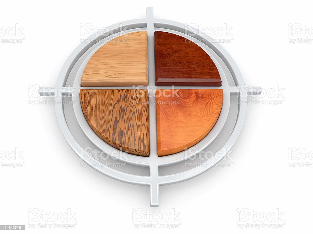 Target from samples of different types  wood royalty-free stock photo