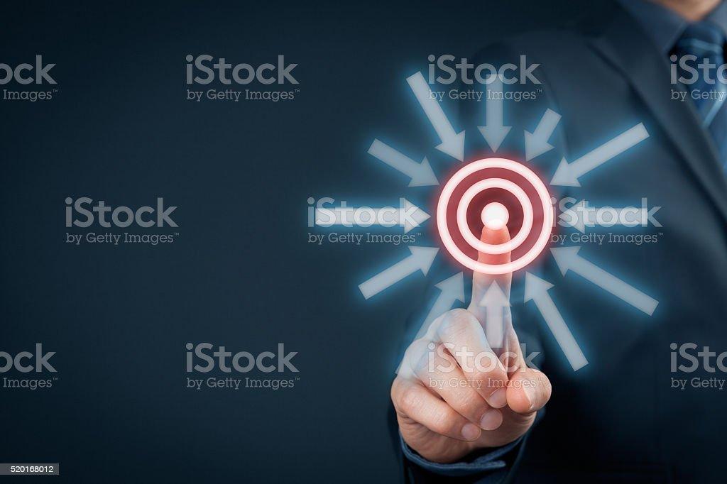 Target goal trigger stock photo