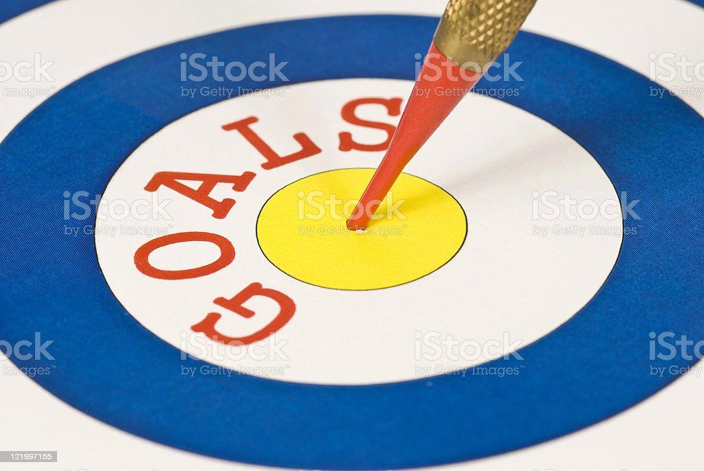 Target: Goals royalty-free stock photo