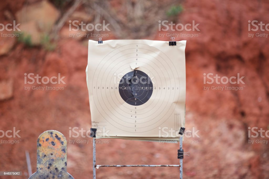 target gun stock photo