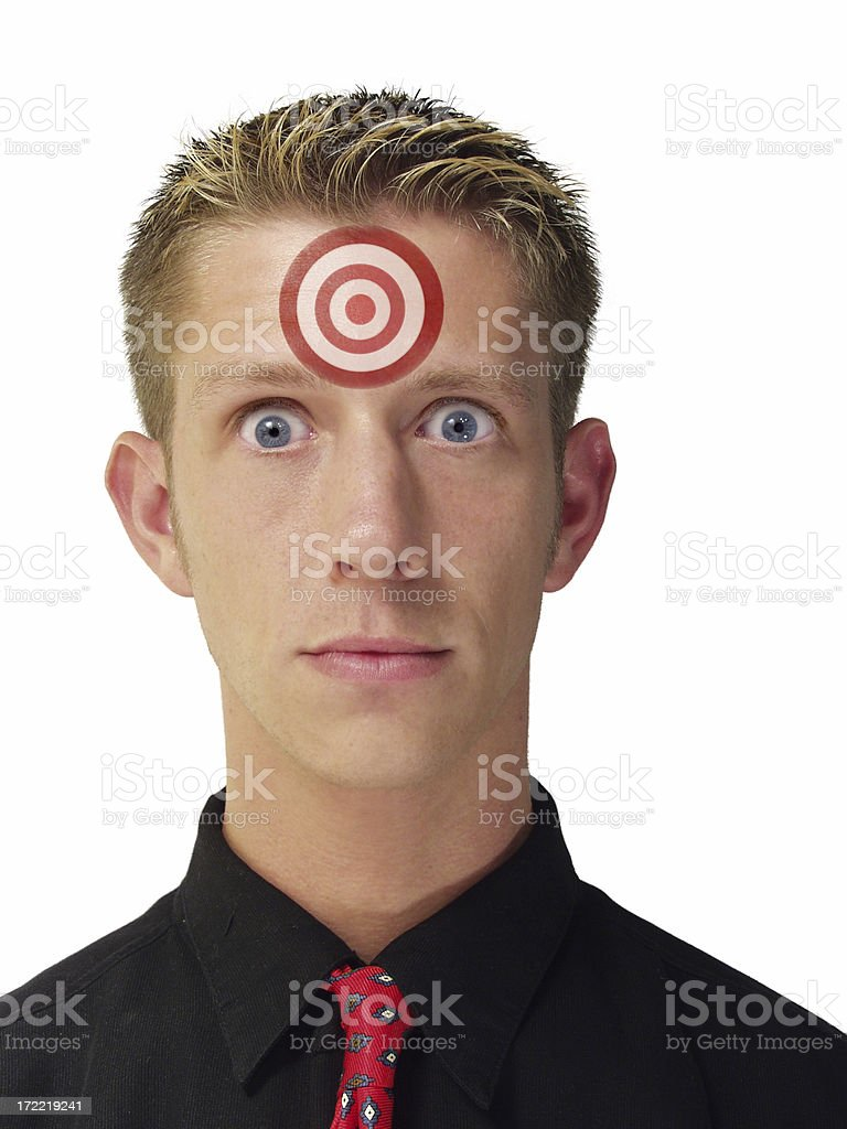 Target Head royalty-free stock photo