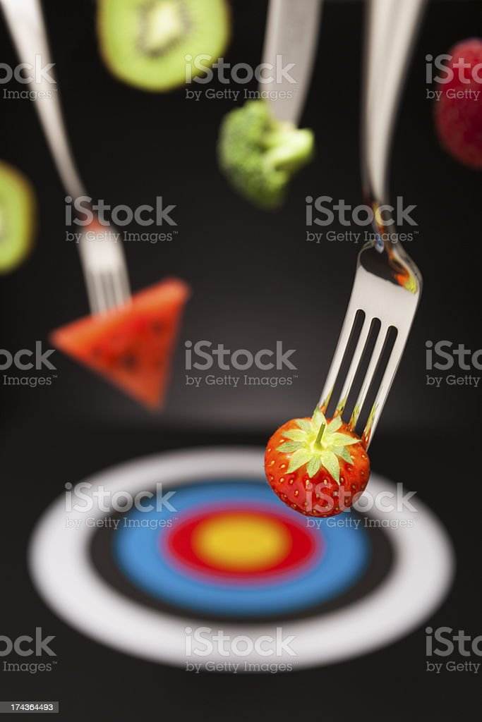 Target healthy foods royalty-free stock photo