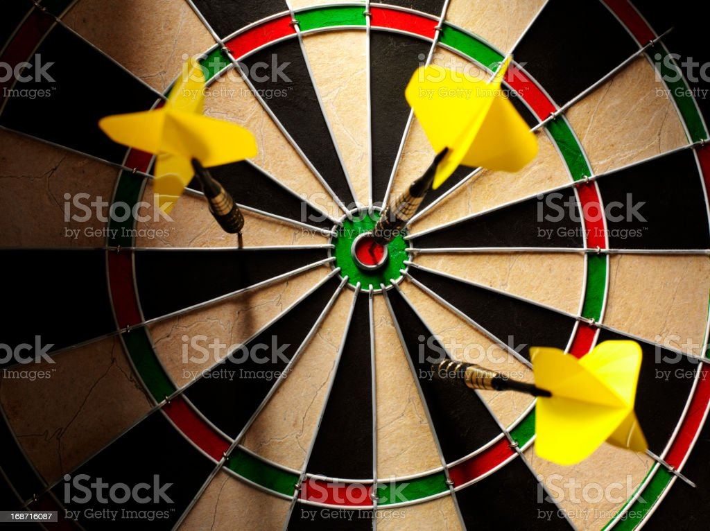 Target Hitting a Dartboard stock photo