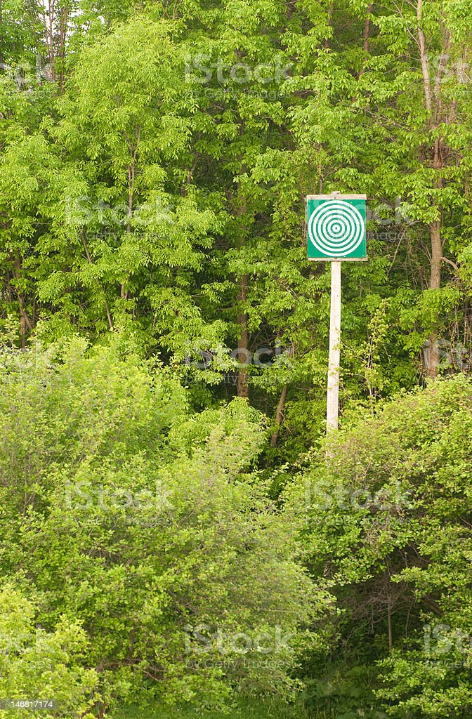 Target in the forest royalty-free stock photo