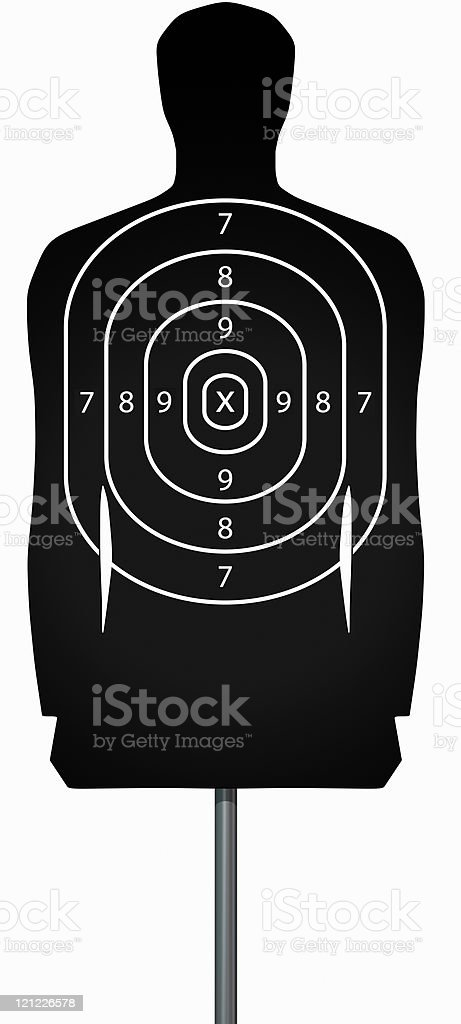 Target isolated on white royalty-free stock photo