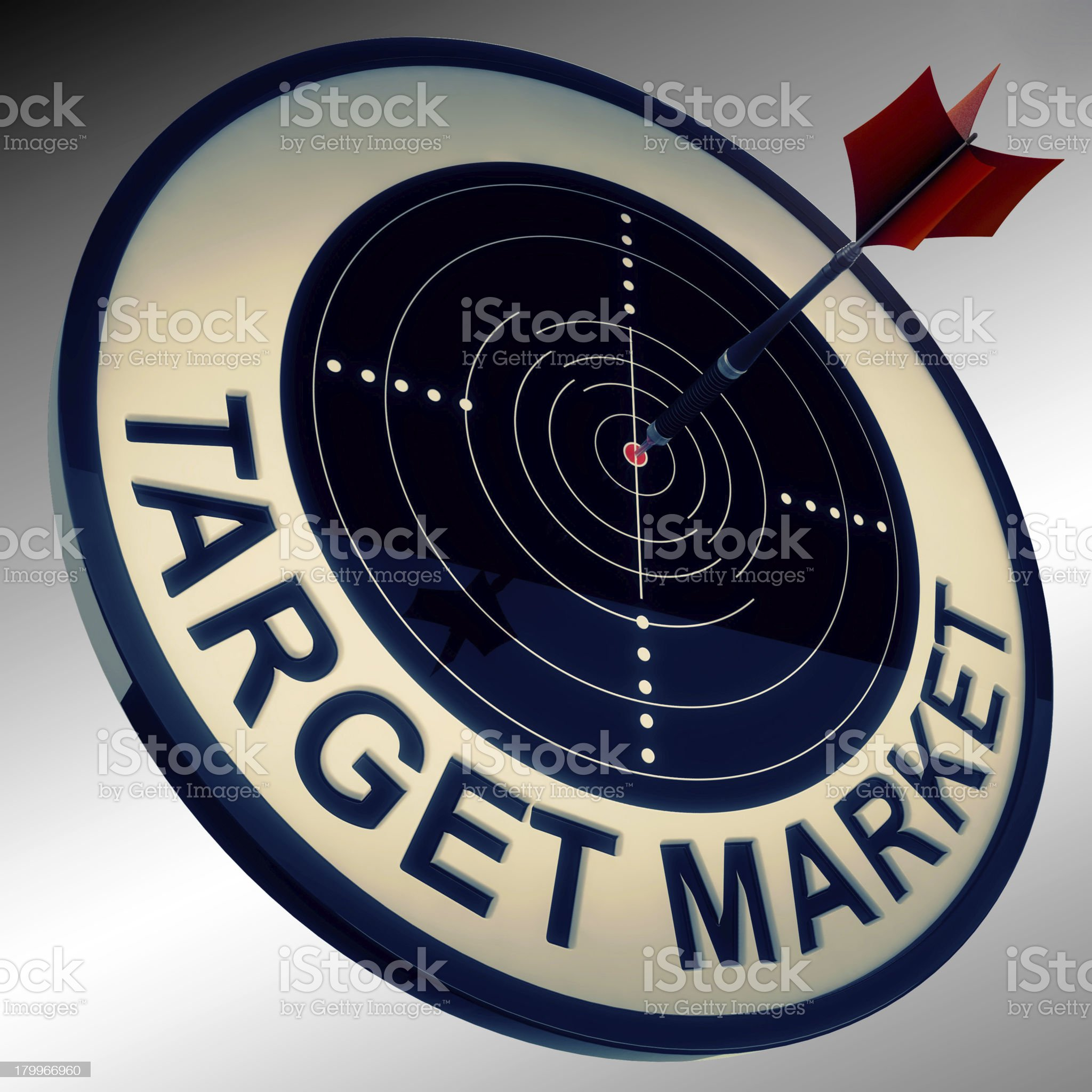 Target Market Means Aiming Strategy At Consumers royalty-free stock photo