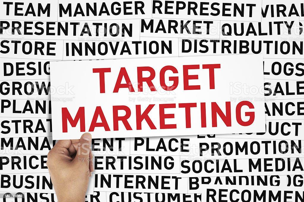 Target Marketing royalty-free stock photo