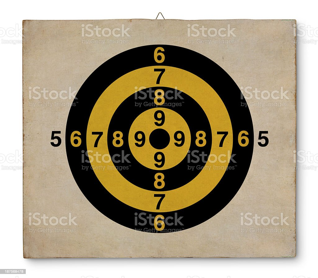 Target on canvas royalty-free stock photo