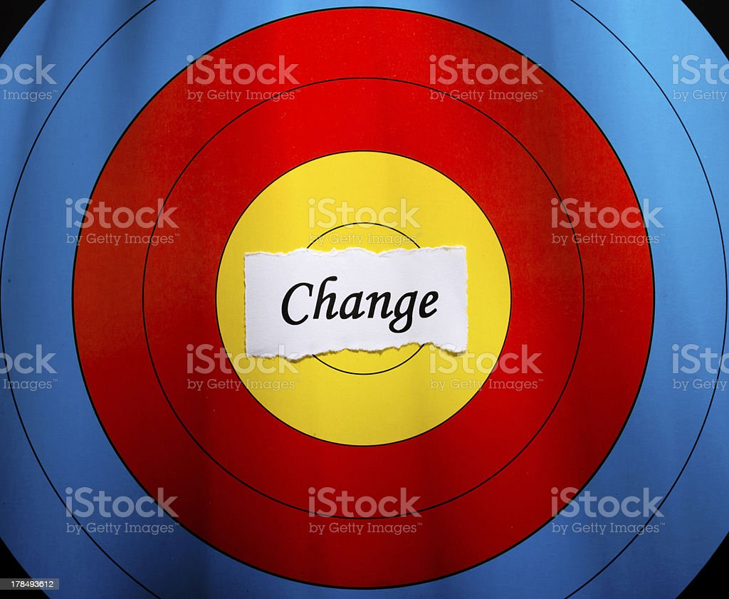 Target on change concept stock photo