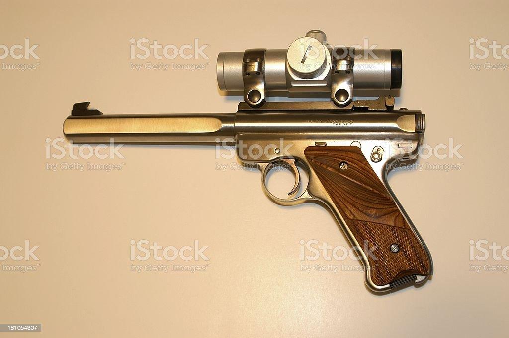 Target Pistol royalty-free stock photo