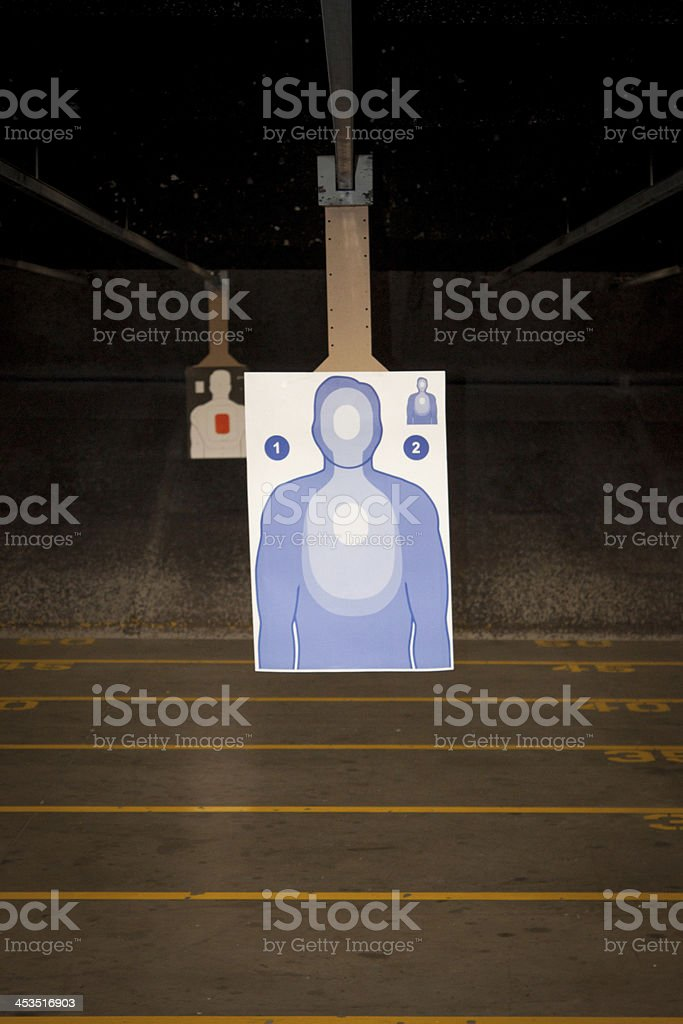 Target Practice at the Gun Range royalty-free stock photo