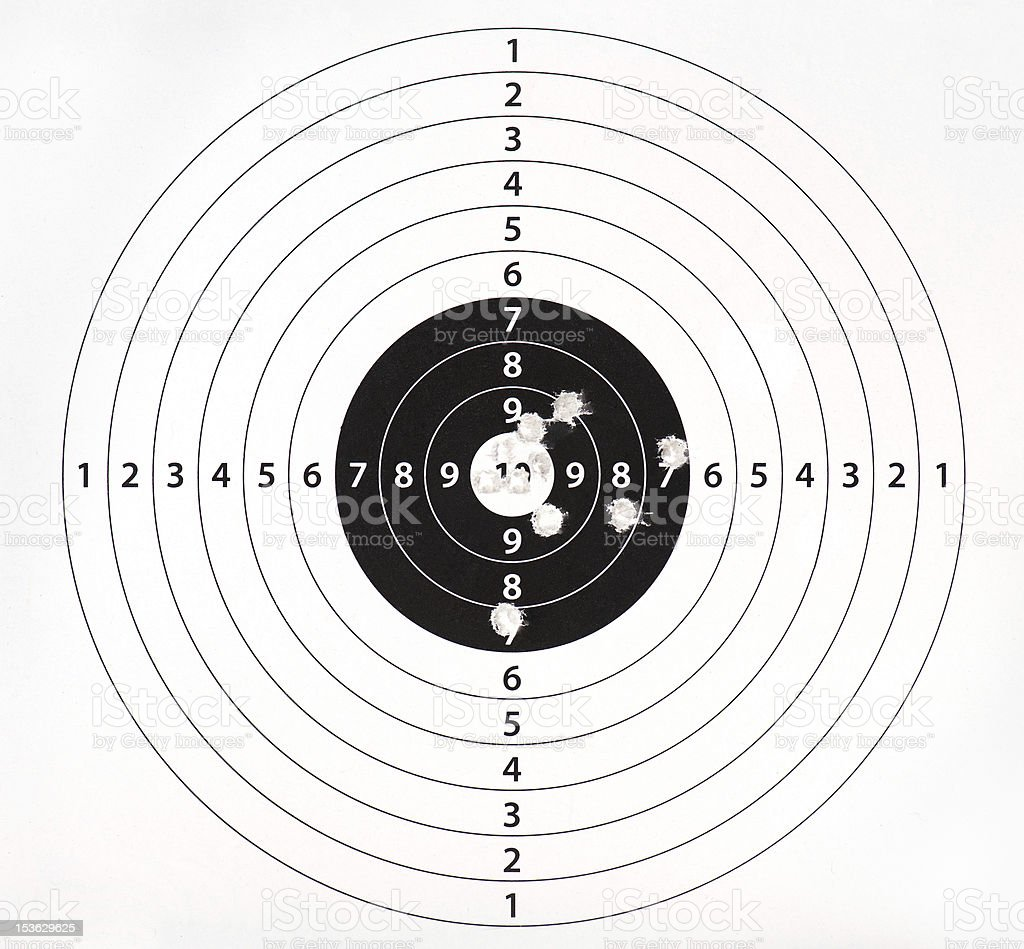 Target practice stock photo