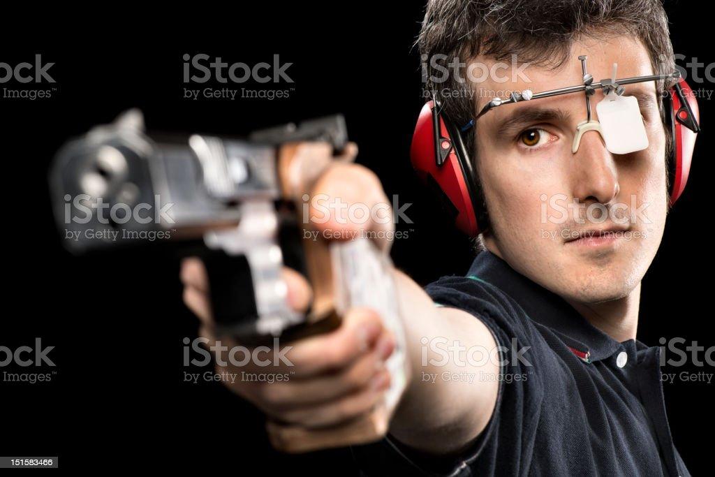 Target Shooting Athlete royalty-free stock photo