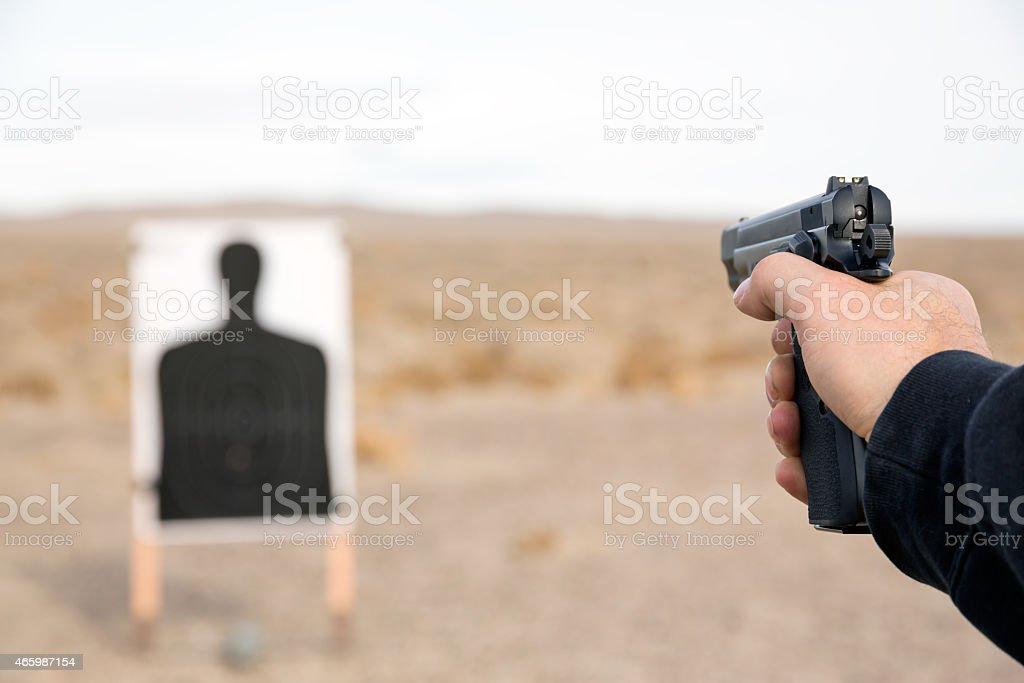 Target shooting stock photo