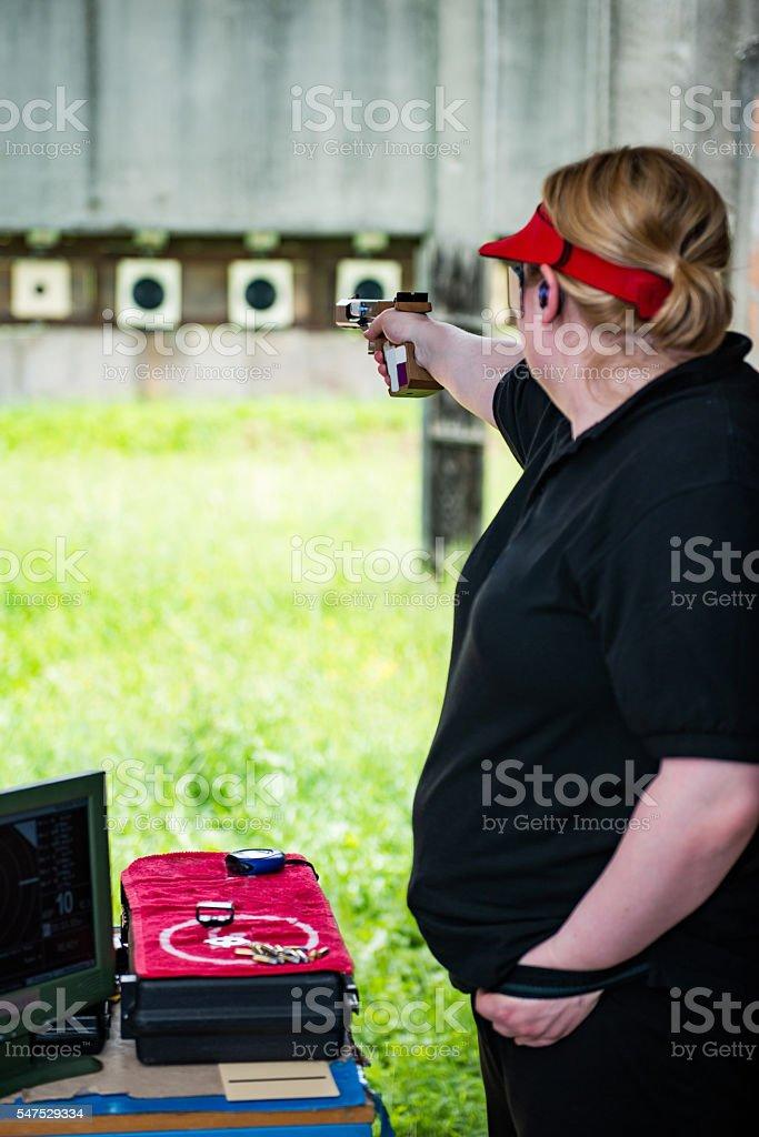 Target shooting stock photo