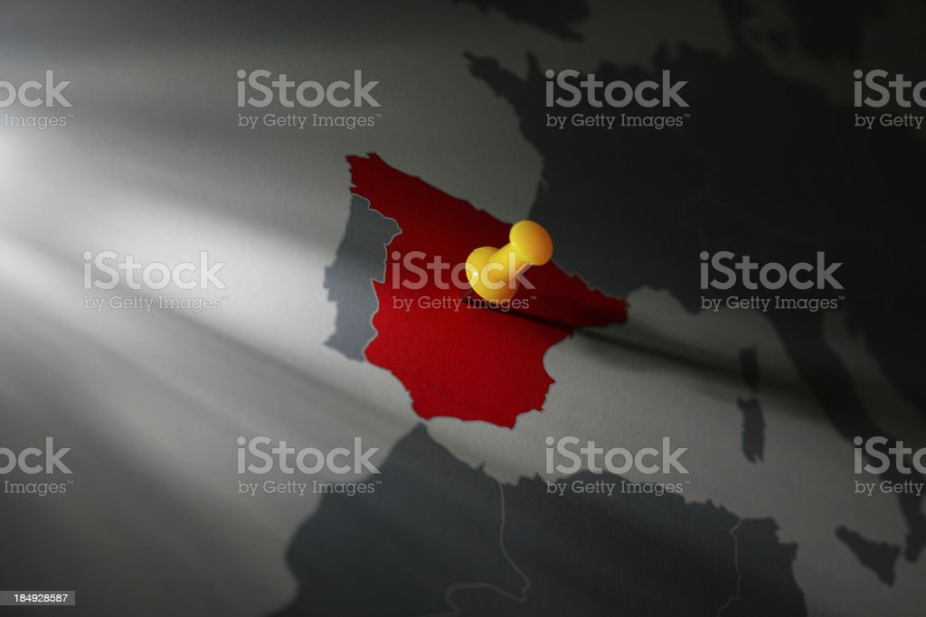 Target: Spain royalty-free stock photo