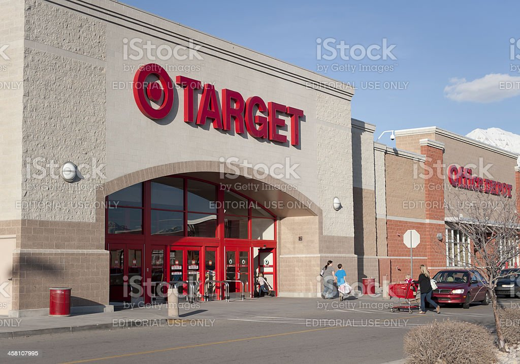 Target store entrance stock photo