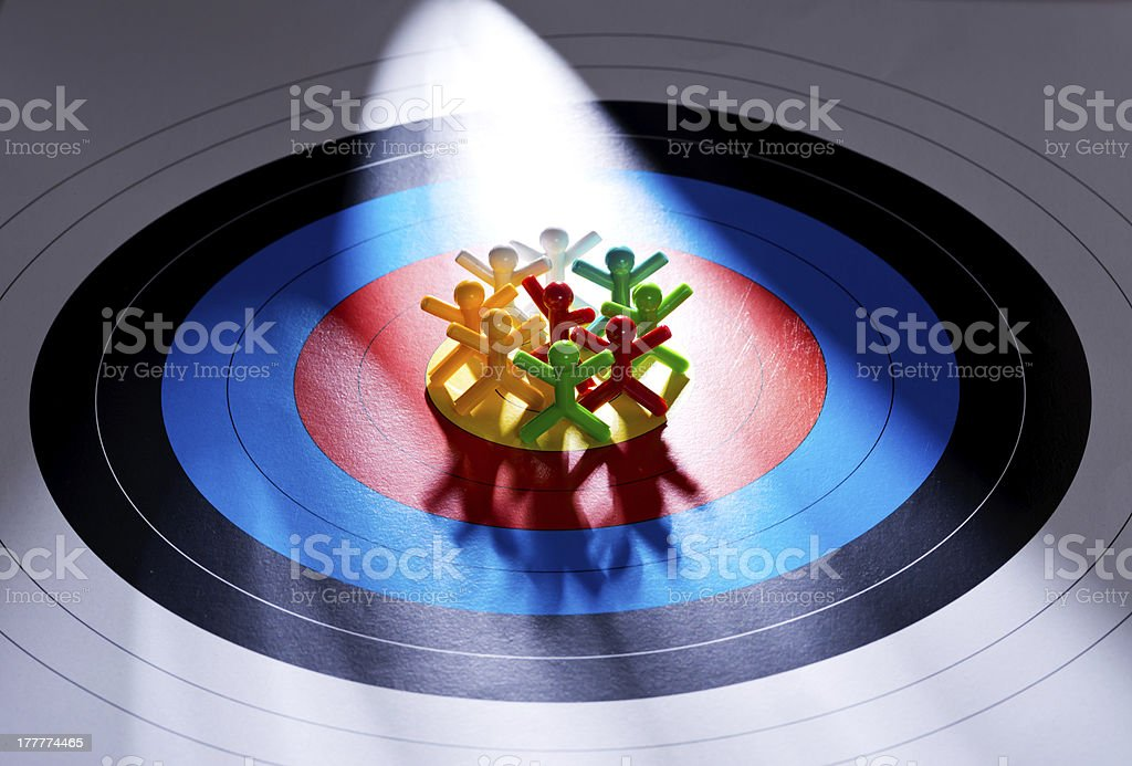 Target the right customers royalty-free stock photo