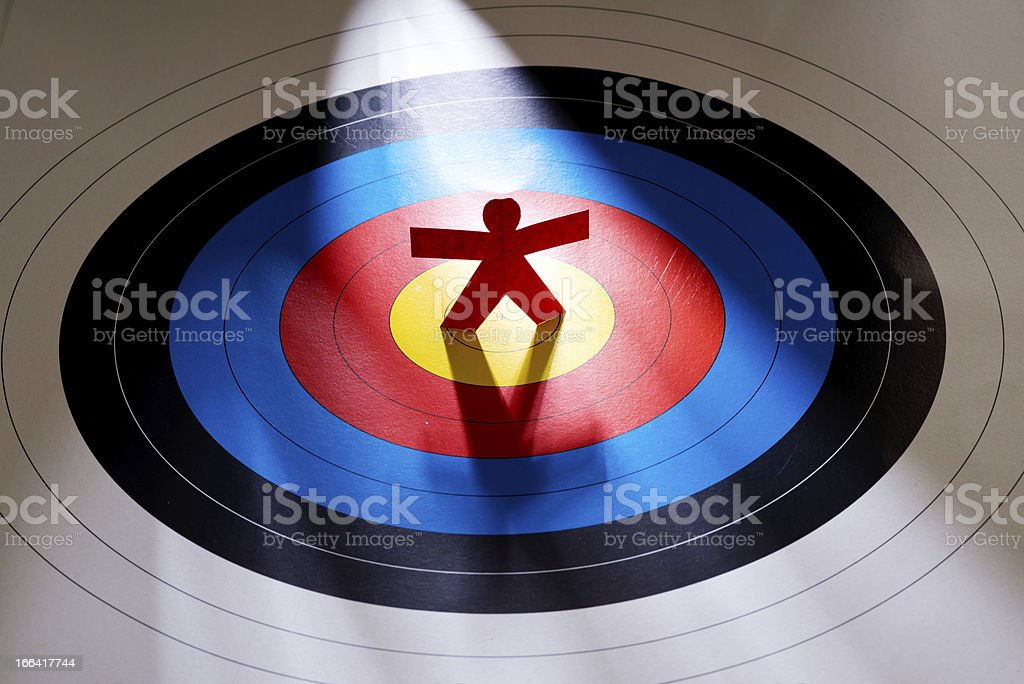 Target the right person royalty-free stock photo