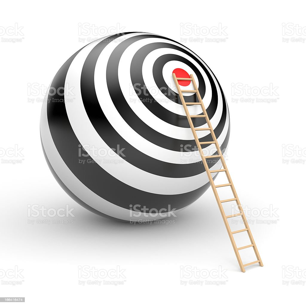 Target with arrow royalty-free stock photo