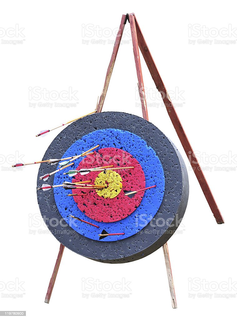 Target with arrows royalty-free stock photo