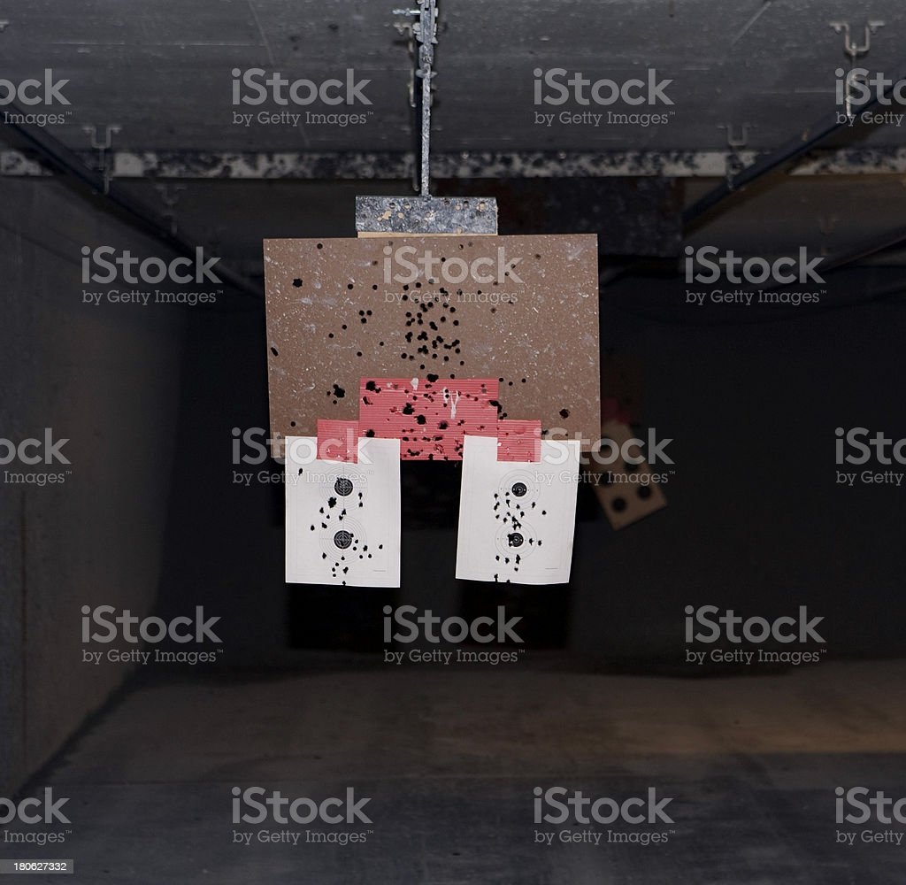 Target with holes stock photo