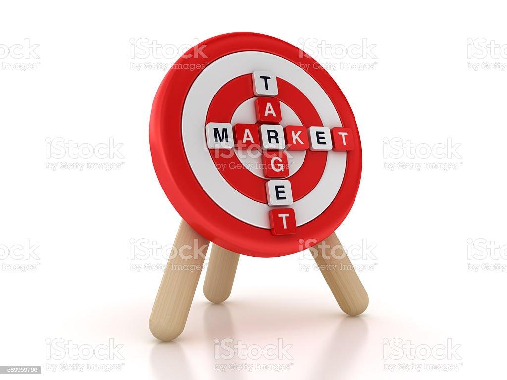 Target with Target Market Crossword stock photo