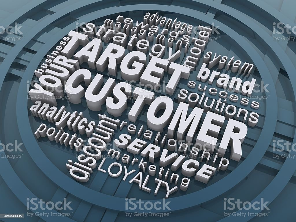 Target your customer stock photo